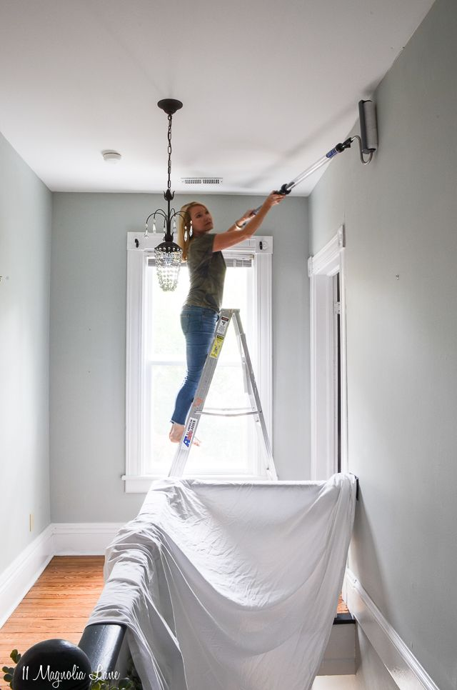 How to Easily Paint Ceilings and Stairwells Without ...