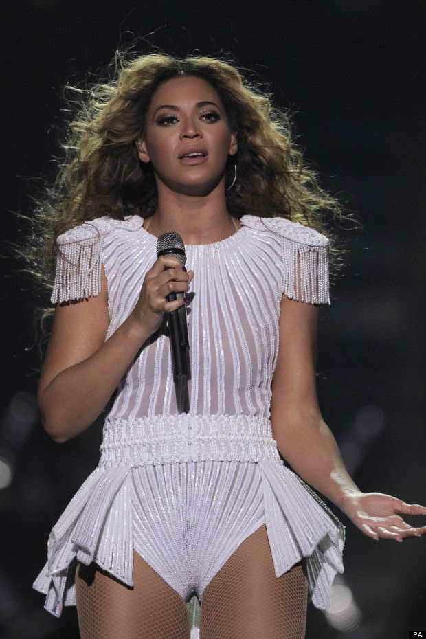 Beyonce Concert -  I'm liking this white outfit of hers
