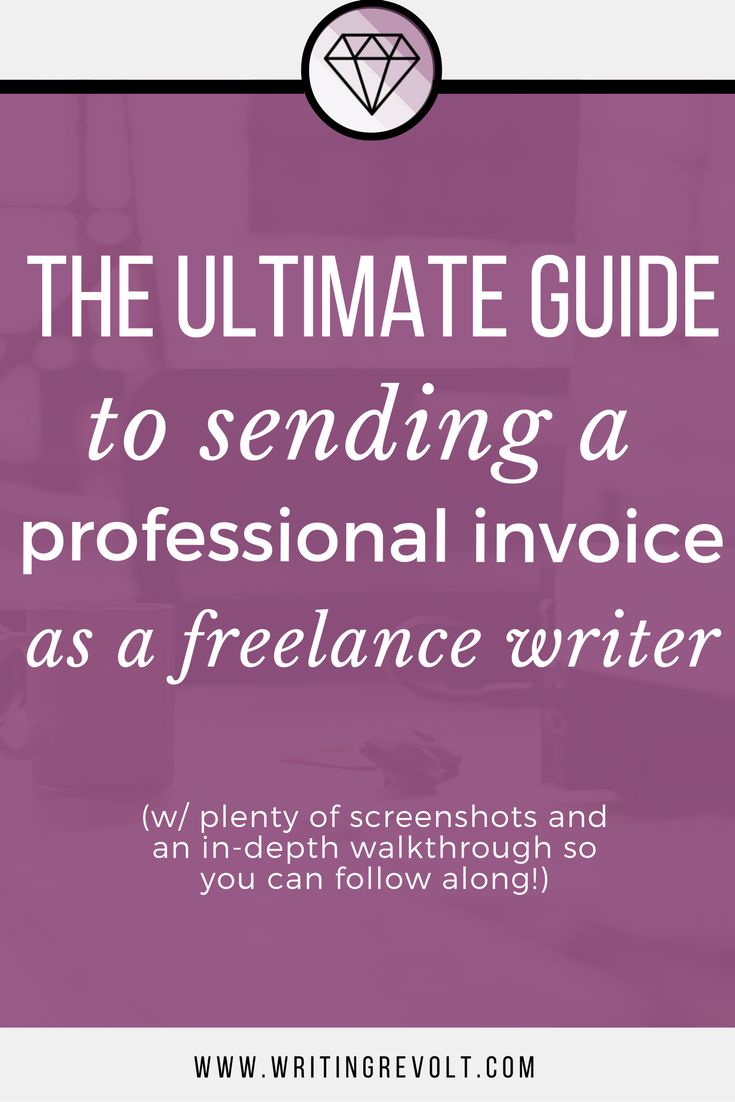 Create a professional freelance writing invoice FAST – this guide will walk you through the steps (w/screenshots) + show you exactly what to include!   how to create a freelance writing invoice   creating an invoice   invoicing tips   freelancer   freelance writing tips  