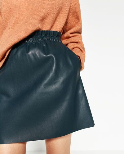 FAUX LEATHER MINI SKIRT - Available in more colours