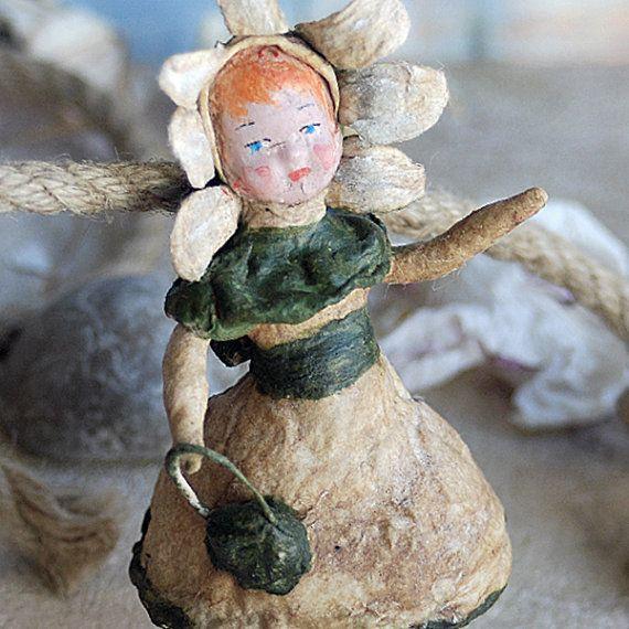RARE collectible antique spun cotton c. 1950 Russian ornament... Jun 10 L
