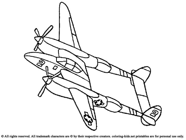 airplane with two propeller blades coloring pages for kids printable airplanes coloring pages for kids - Airplane Coloring Pages Printable