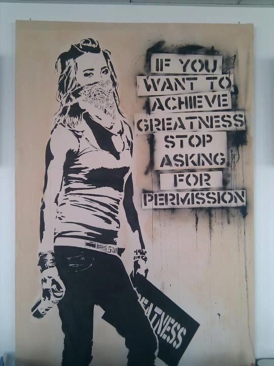 """Obey... """"si quieres alcanzar la grandeza para de pedir permiso"""""""