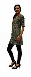 Ayurvastram Pure Cotton Tunic Top Dress Kurti Hand Block Printed