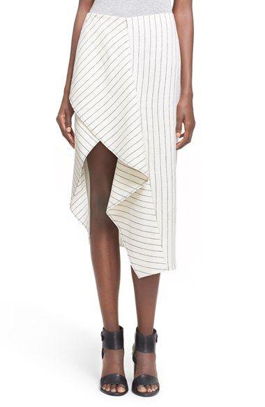 3.1 Phillip Lim Ruffle Linen Skirt