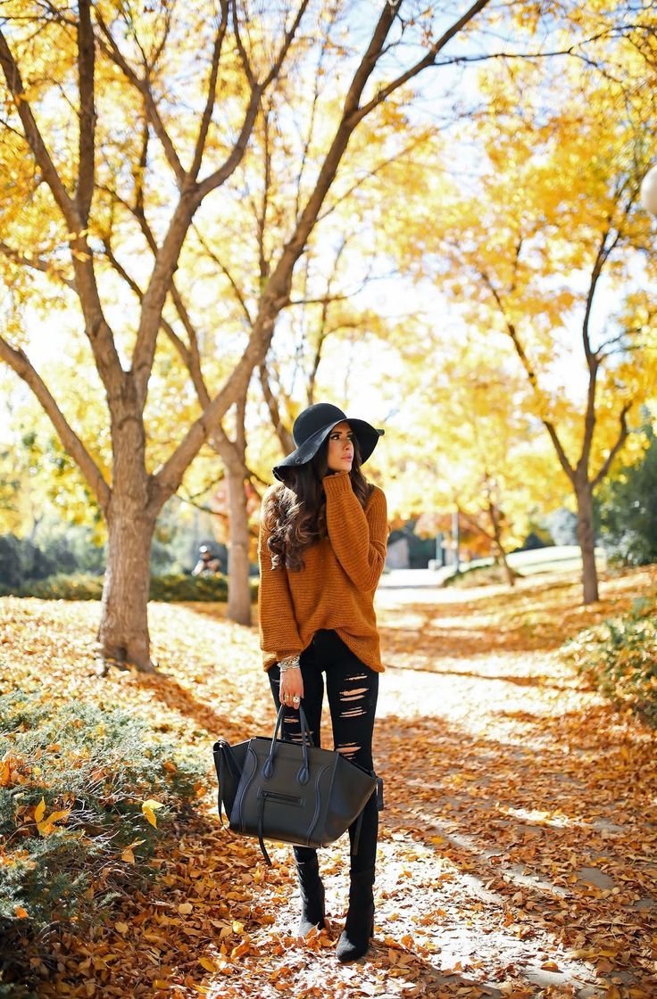 Tuesday, October 18, 2016 Fall Outfit Inspiration - SWEATER: Free People | DENIM: AG | BOOTIES: BCBG | NECKLACE: H.Audrey | HAT: Halogen | HANDBAG: Celine | WATCH: Michele | LIPS: from the new Smashbox matte collection - not all shades are available - I used 'Spice' liner though!