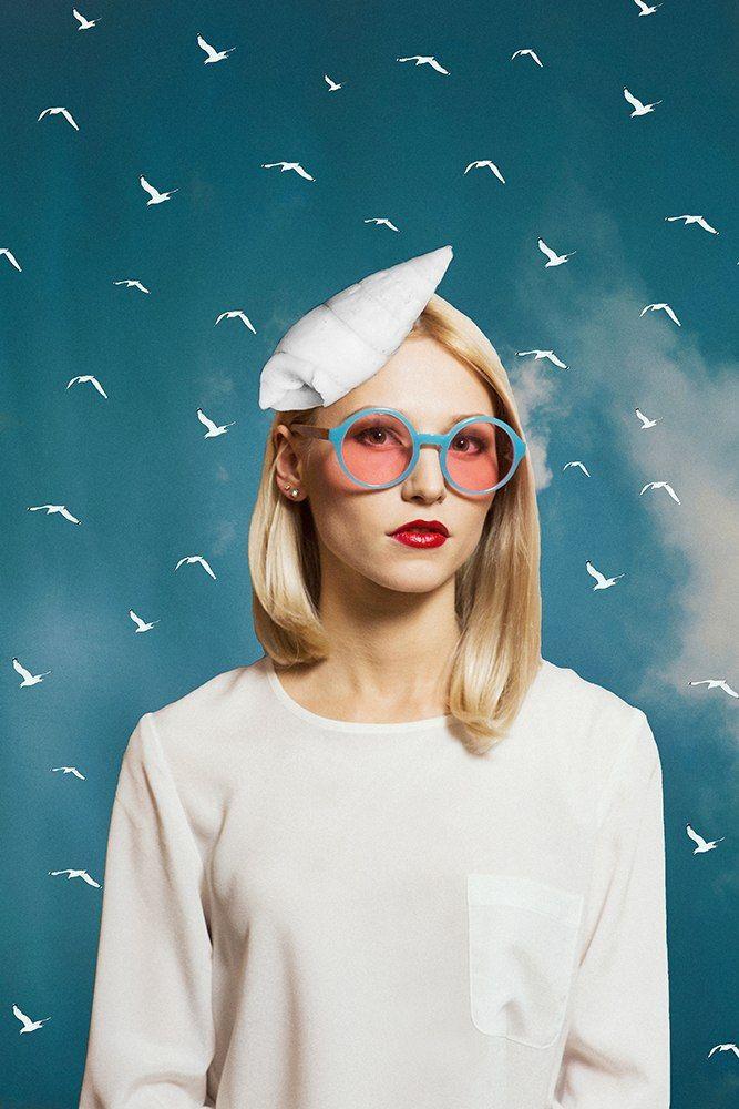 Солнцезащитные очки SPUNKY Studio Sun Blue M5\ Sunglasses SPUNKY Studio Sun Blue M5 #craftup_accessories