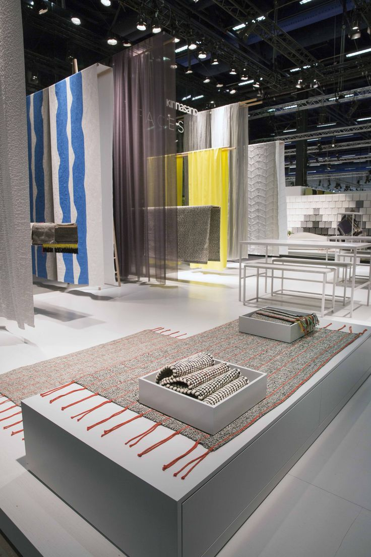 Kinnasand presents its FACES collection, a family of colourful curtains and carpets, at Stockholm Furniture Fair 2015