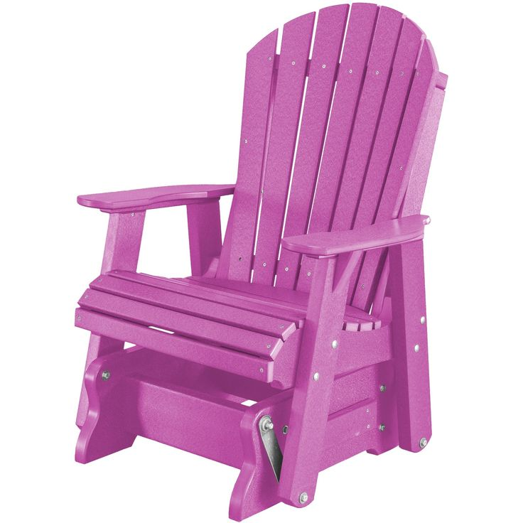 Heritage Poly Lumber Single Rocker Glider by Little Cottage Company