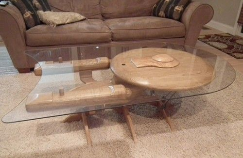 Ok, I have no interest in this, but I thought you Trekkies might... a starship table