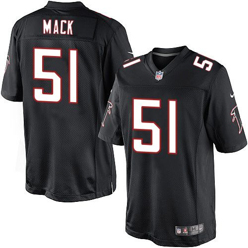Youth Nike Atlanta Falcons #51 Alex Mack Limited Black Alternate NFL Jersey Steelers James Conner jersey