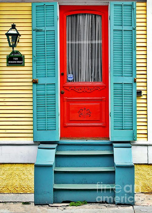 Red Door In New Orleans Photograph By Christine Till   Fine Art Prints And  Posters For