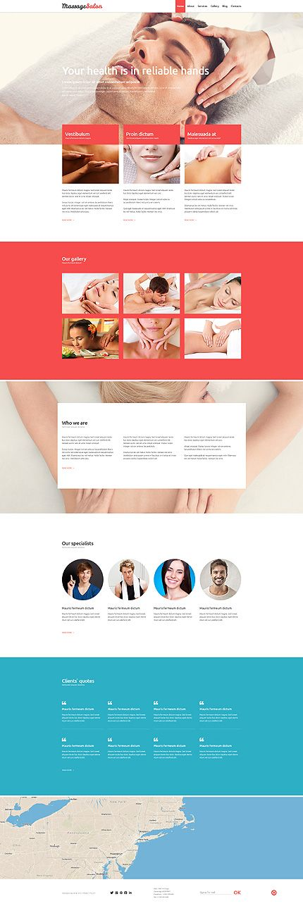 Template 52873 - Massage Spa Responsive Joomla Template with Gallery, Blog and…