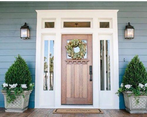 8ft Knotty Alder Craftsman Single Lite Entry Door With Side Lites