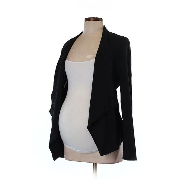 Pre-owned Motherhood Blazer Size 12: Black Women's Jackets & Outerwear ($25) ❤ liked on Polyvore featuring outerwear, jackets, blazers, black, motherhood maternity and blazer jacket