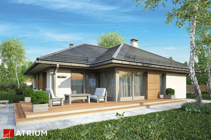 WINONA – ciekawa w formie parterówka z funkcjonalnym wnętrzem przykryta wielospadowym dachem. Garaż połączony z częścią mieszkalną. Oferta dla ceniących ponadczasową architekturę, sprawdzającą się w warunkach tak miejskich jak i podmiejskich.