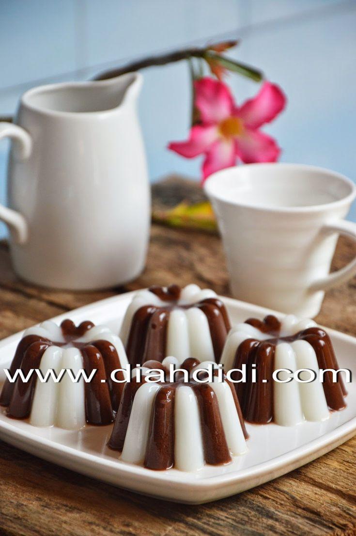 Diah Didi's Kitchen: Puding Coklat Belang Favorit Yodha