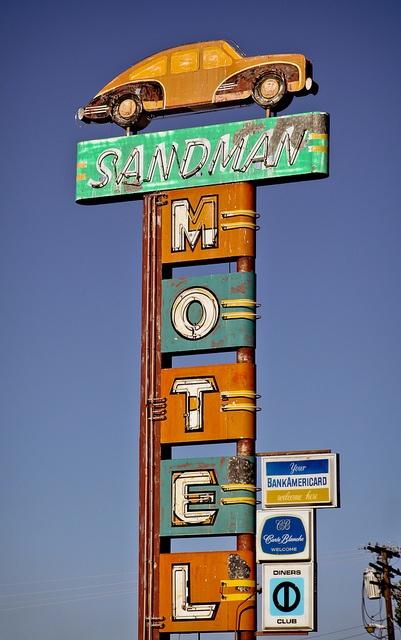 Sandman Motel, by Corey Miller (aka toomuchfire) via Flickr.