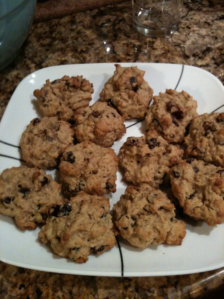 Oatmeal Cranberry White Chocolate Chunk Cookies.