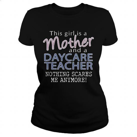 DAYCARE TEACHER - MOTHER - #t shirt ideas #cool tee shirts. BUY NOW => https://www.sunfrog.com/LifeStyle/DAYCARE-TEACHER--MOTHER-109913755-Black-Ladies.html?60505