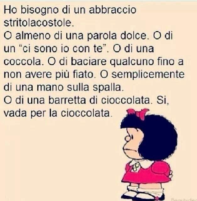 Mafalda ed io ci capiamo cosi bene