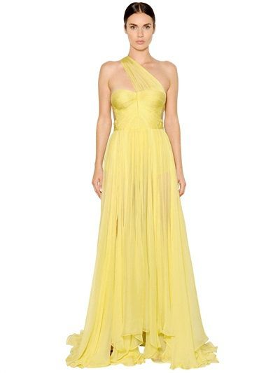 ANDORA SILK MOUSSELINE GOWN