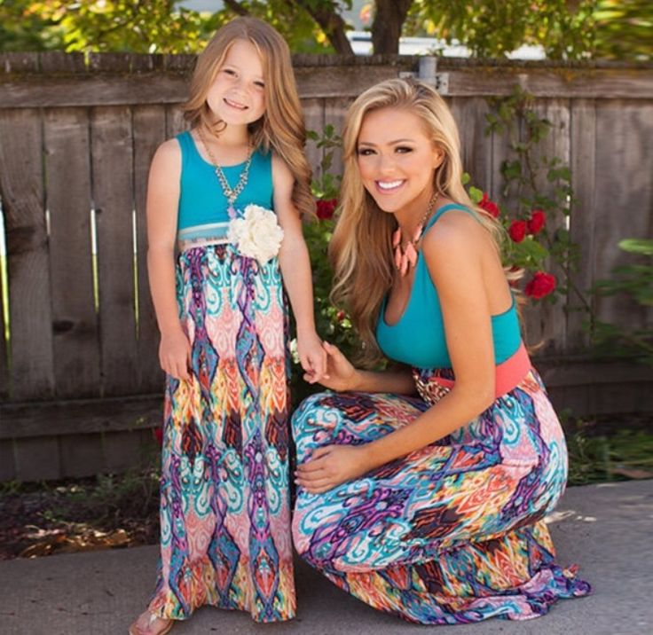 Mommy and Me Zoe Summer Maxi Dress