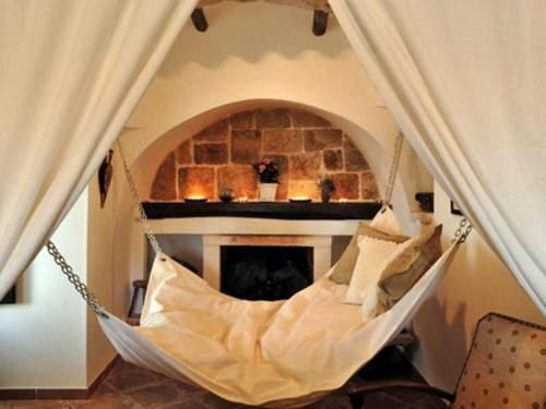 I want this - the perfect combination of a hammock and a feather bed!