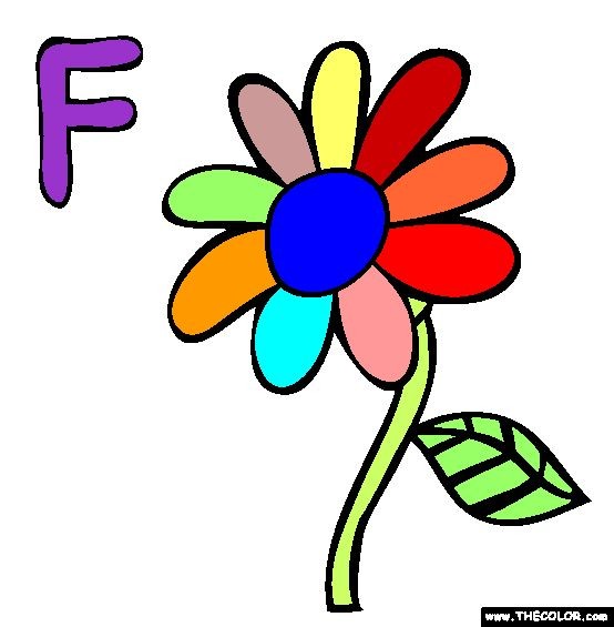 F Coloring Page