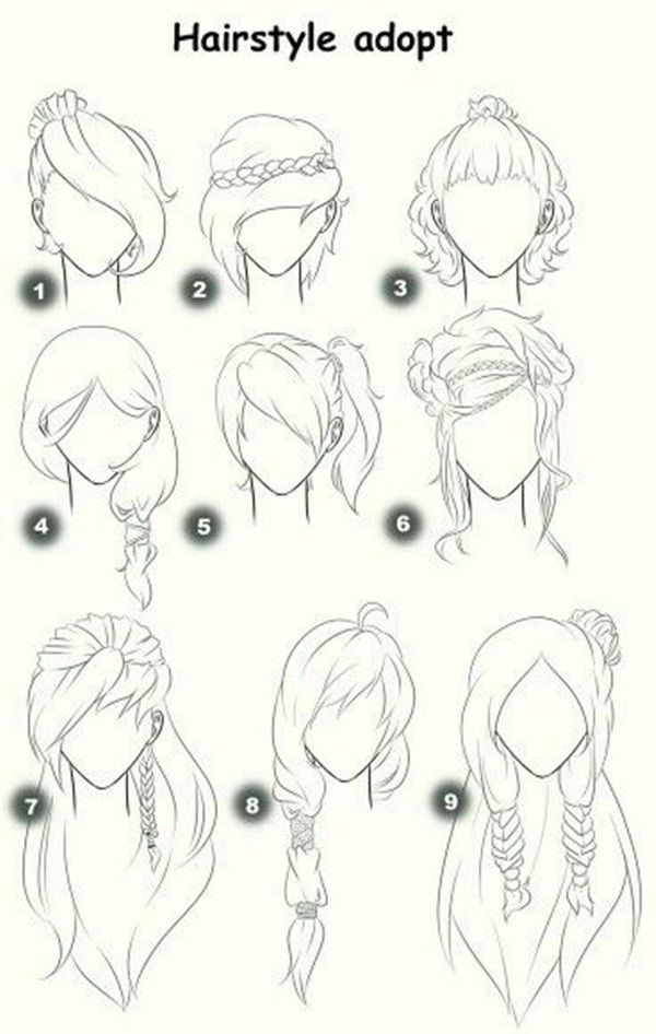How To Draw Hair Step By Step Image Guides Sketches Drawings How To Draw Hair