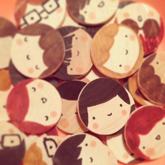 Wooden Brooches!