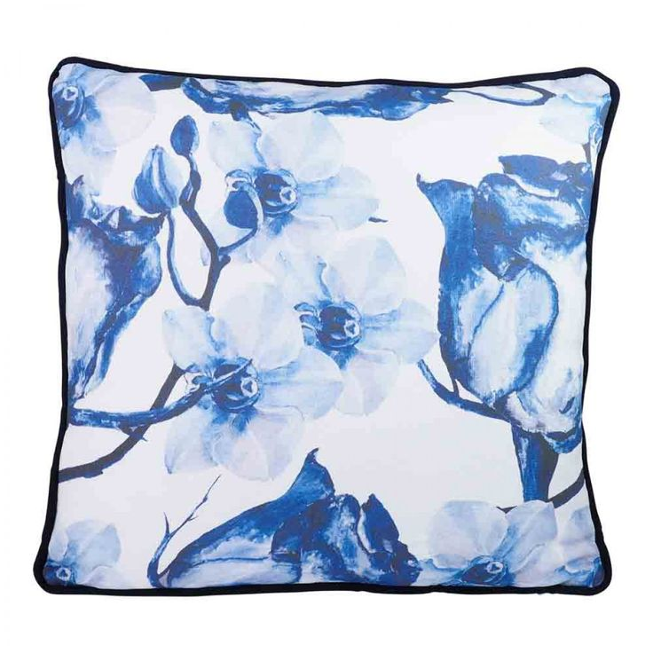 Fiorentino Rose Watercolour 45x45cm Cotton Canvas Cushion