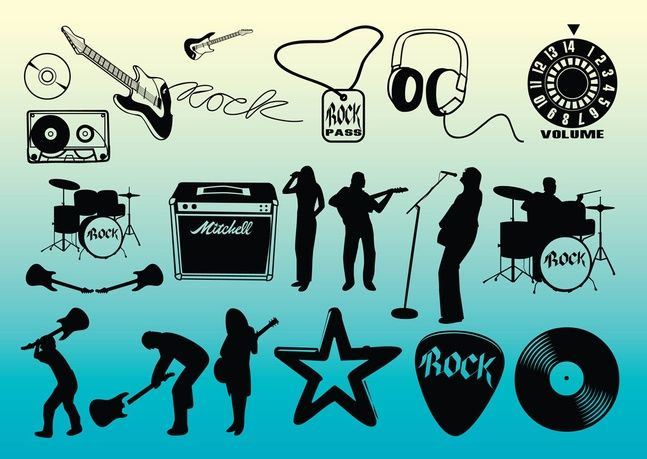 free rock star clipart and more free banners at http://www.freevector.com