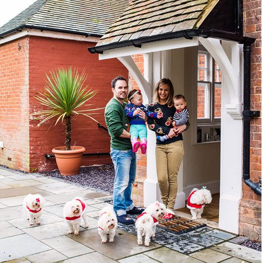 Taking reality television to new levels, every day the Saccone-Jolys air a   vlog of their life, from childbirth to training Maltese puppies. Tamsin   Blanchard finds out what they are getting up to at Christmas.