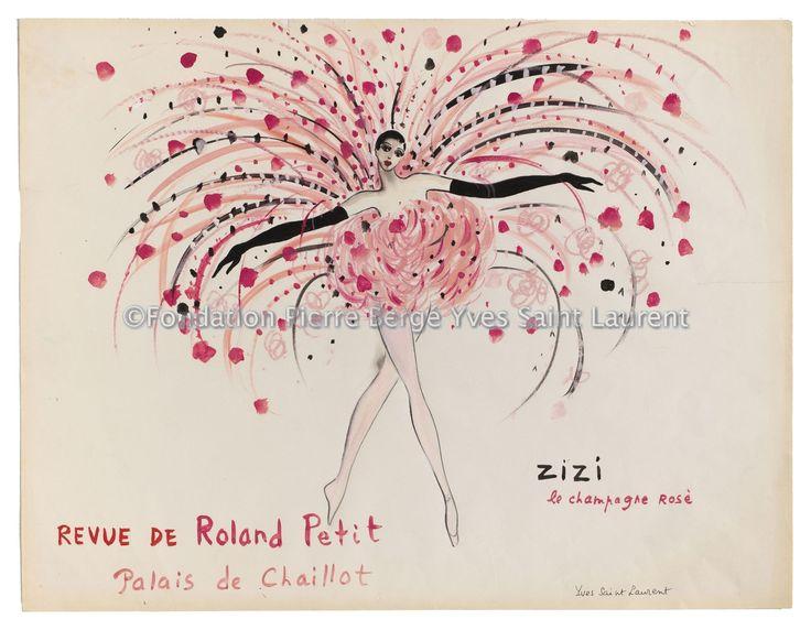 croquis de music-hall, Le Champagne Rosé, Spectacle Zizi Jeanmaire (titre attribué) - 2014.02.025