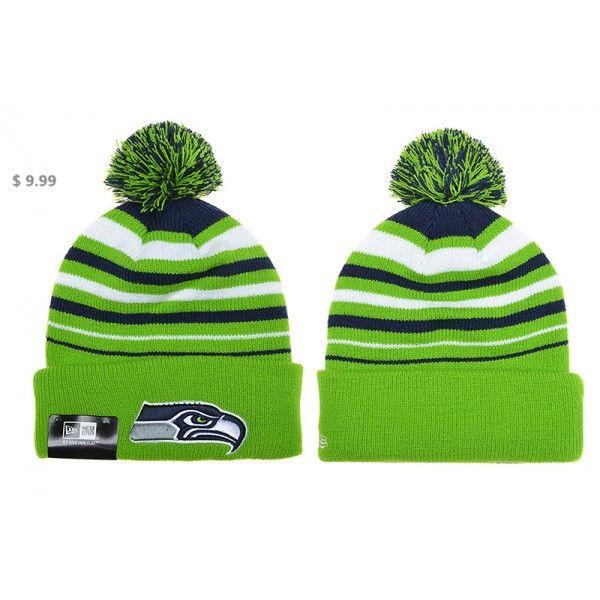 NFL Seattle Seahawks Knit Hats NE On-Field Striped Beanies