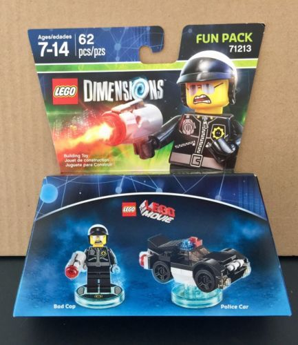 Lego-Dimensions-The-Lego-Movie-62-Pcs-Bad-Cop-amp-Police-Car-Fun-Pack-71213-NIB