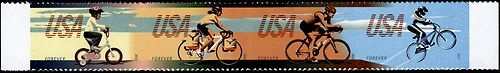2012 45c Bicycling, Strip of 4 Scott 4687-90 Mint F/VF NH  www.saratogatrading.com
