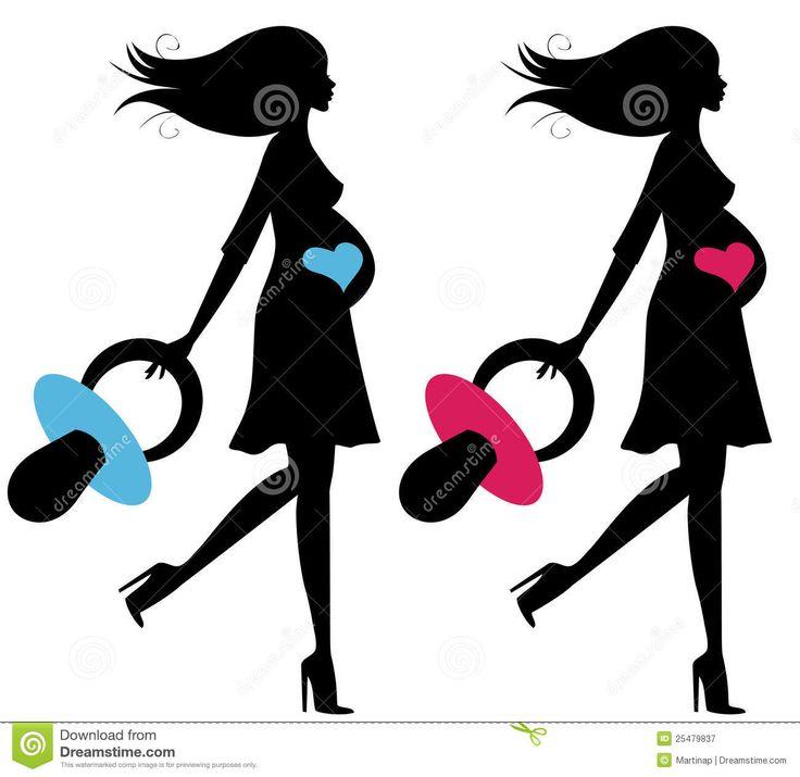 mujer embarazada caricatura silueta - Buscar con Google