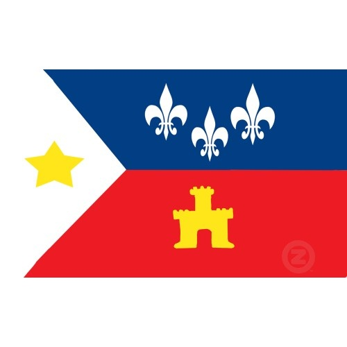 french flag with star