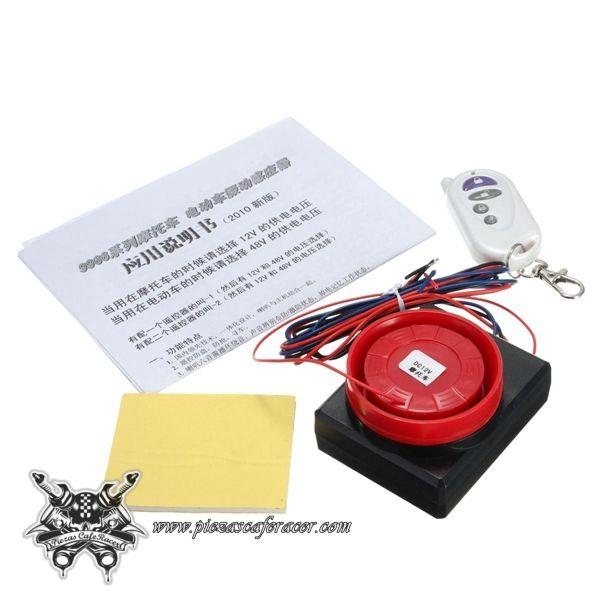 9,79€ - ENVÍO GRATIS - Kit de Alarma Moto por Presión Inalámbrica con Mando 12V Fácil Instalación