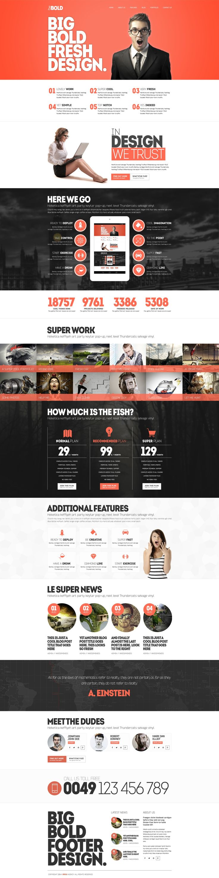 BBold Multipurpose Responsive WordPress Theme #design #web #graphics
