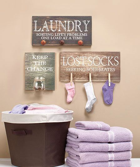 Laundry Room Signs Wooden Wall Art Lost Sock, Seeking Sole Mates or Keep Change