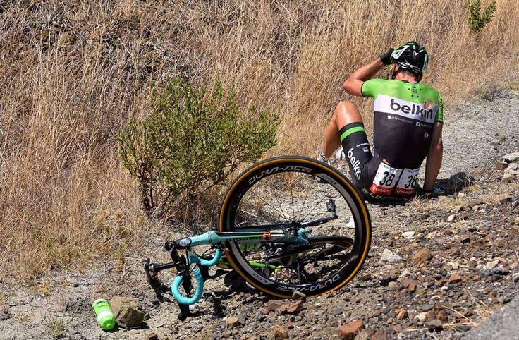 Gallery: 2014 Vuelta a Espana, stage 2 - Maarten Tjallingii took a digger along the way. Photo: Tim De Waele   TDWsport.com