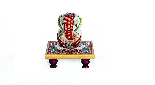 Flipkart Offer : Ganesha Marble Idol With Chowki @ Rs.125 + Shipping Charge 30