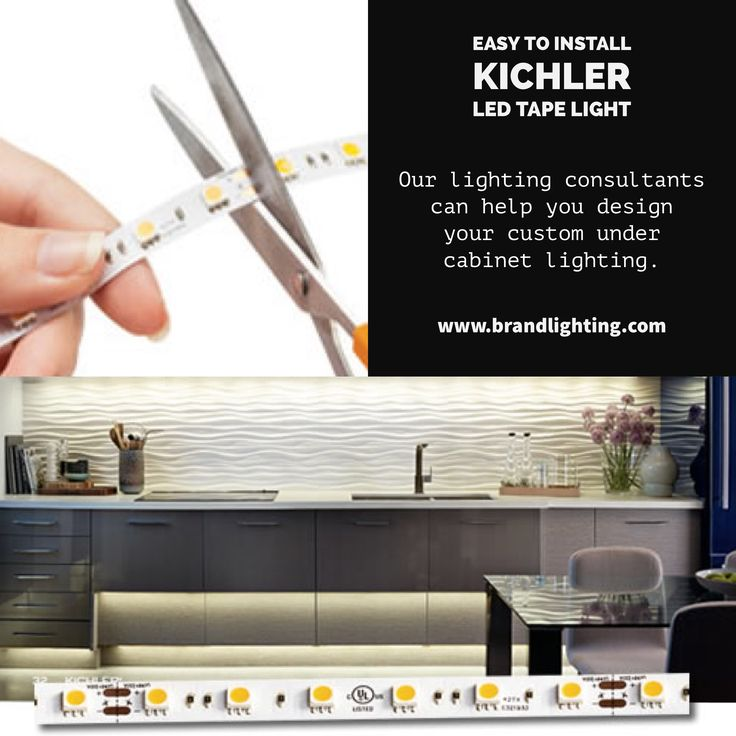 Easy To Install Kichler LED Tape Light Under Cabinet Kitchen Lighting With  Tape Backing And Dimmable Plug And Play Power Supply. Costs Less Than  Competing ...