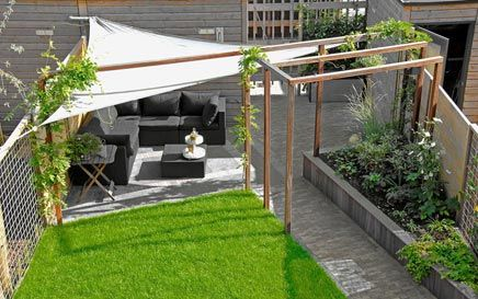 Moderne tuin in Vathorst