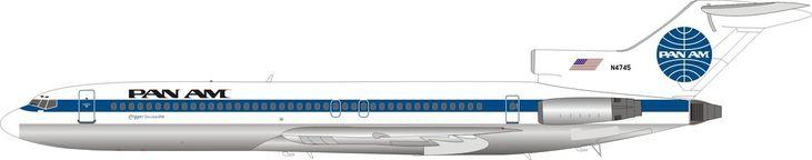 Pan Am Boeing 727-200 N4745 IF7221117P 1:200