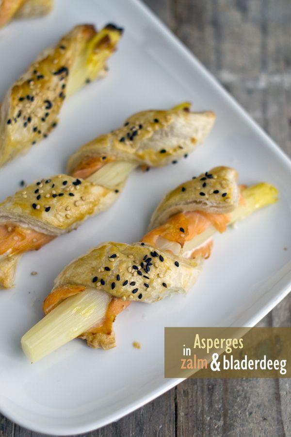 Asperges met kaas en bladerdeeg! -- Reuze leuk idee! Groetjes Zus Verhagen