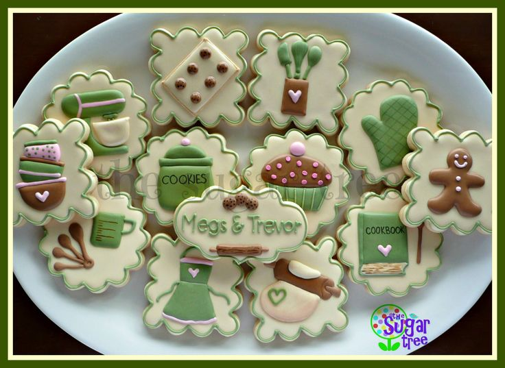 Kitchen themed bridal shower cookies by The Sugar Tree